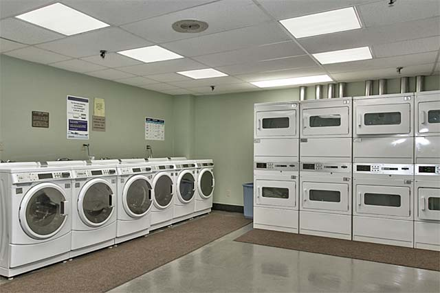 Central laundry room for residents.
