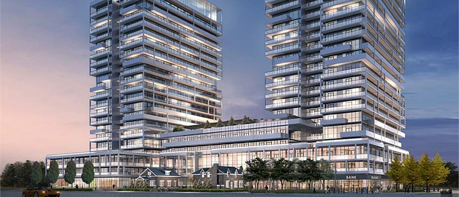 55 and 65 Speers Road, Oakville - Rain and Senses condominiums built by Empire Communities.